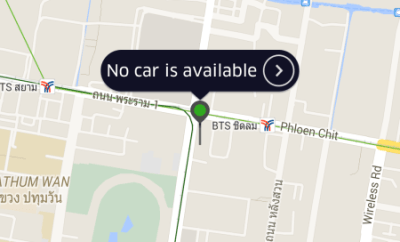 Uber Bangkok No Cars Available