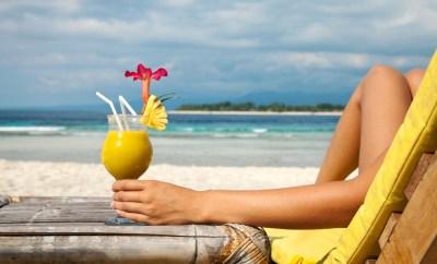 Tropical drink on the beach
