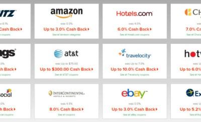 ebates double cashback travel sites