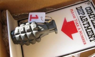 gag grenade confiscated photo courtesy of TSA