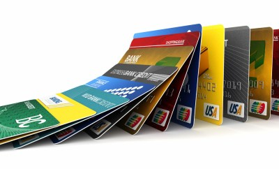 stack of credit cards loyalty cards