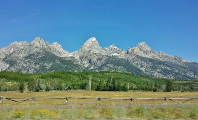 Grand Teton National Park entrance drive