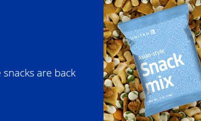 united airlines free snacks economy snack mix
