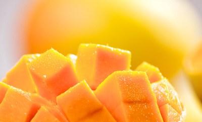 Fresh mango cubes