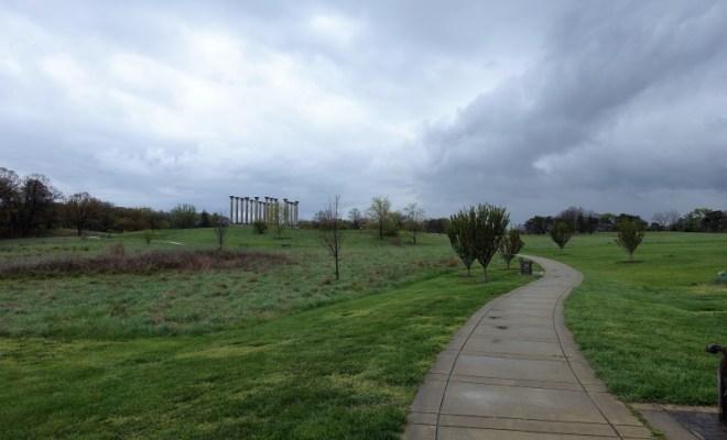 National Arboretum DC capitol columns vista