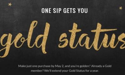 free starbucks gold status banner