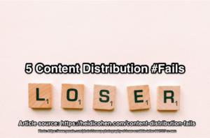 content distribution fail