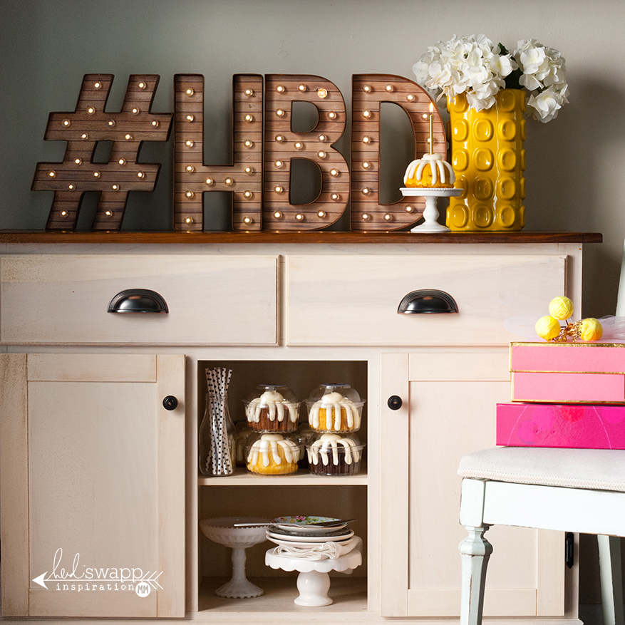 "12"" Marquee Love #HBD 