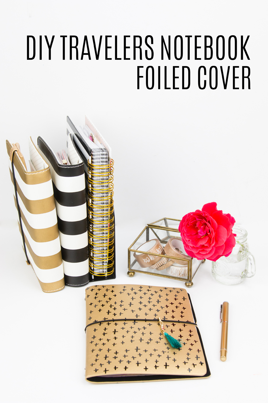DIY Traveler's Notebook foiled cover by @createoften for @heidiswapp