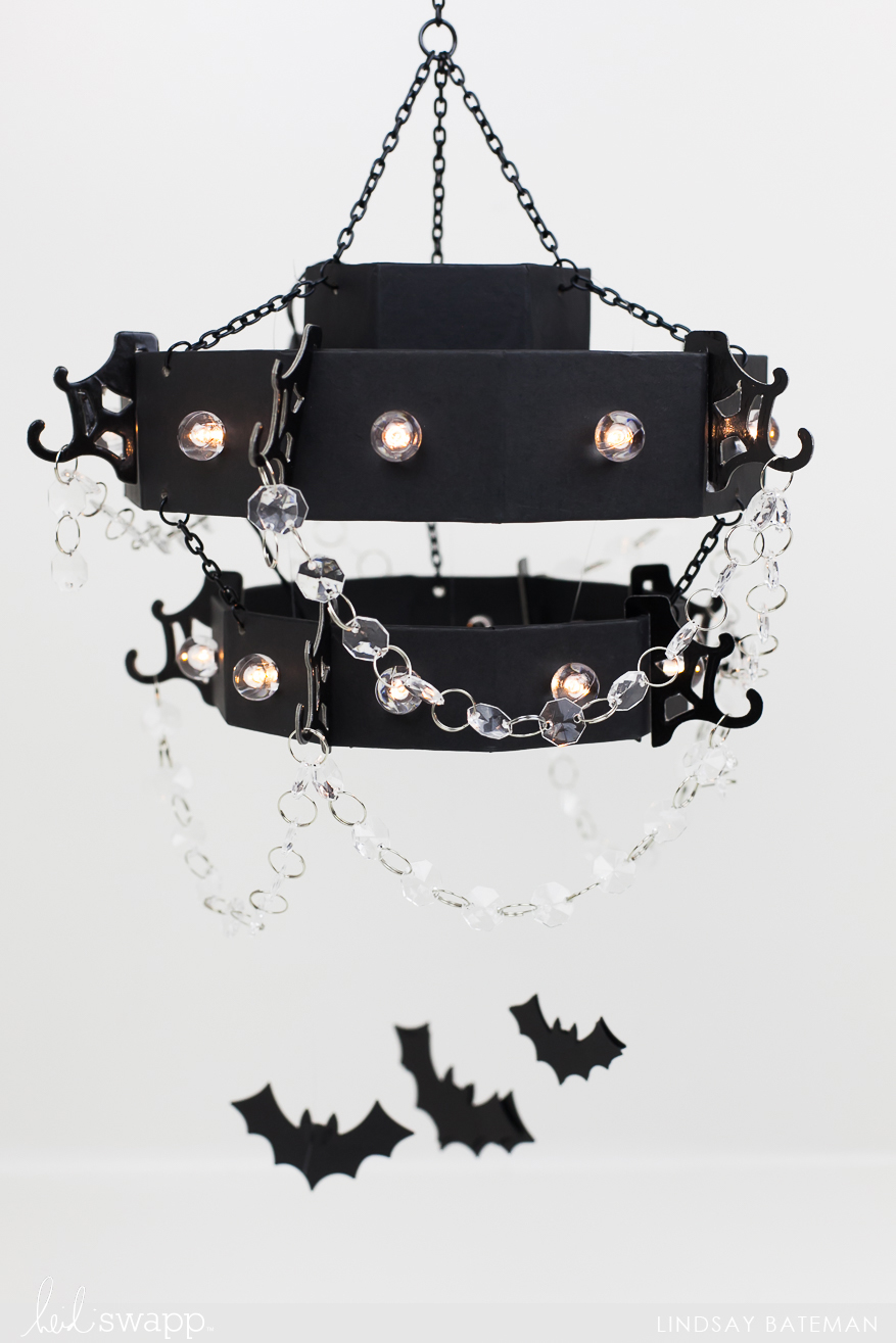 Marquee Love Halloween Home Decor Chandelier I @lindsaybateman for @heidiswapp
