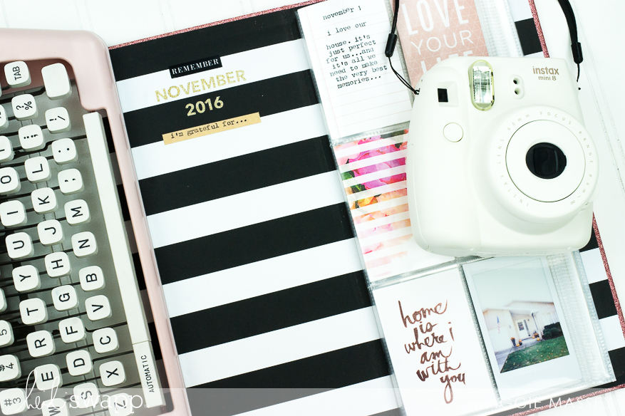 Put together a quick & easy November Gratitude Album with Heidi Swapp's new InstaLove Collection   @MaggieWMassey for @HeidiSwapp