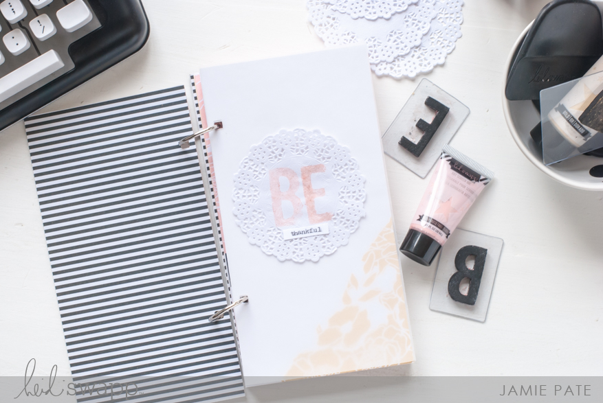 Create a Thanksgiving Day Book with Heidi Swapp Gallery Wall Mixed Media by Jamie Pate   @jamiepate for @heidiswapp