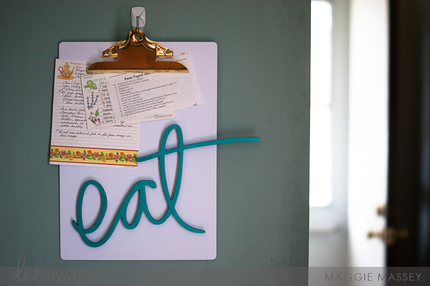 Quick & Easy Pantry Decor with Wall Words | @MaggieWMassey for @HeidiSwapp