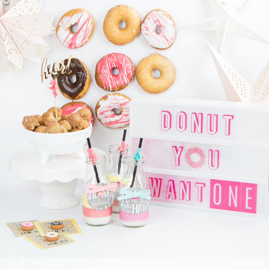 Donut Valentine's Day party ideas perfect for the classroom or at home by @createoften for @heidiswapp