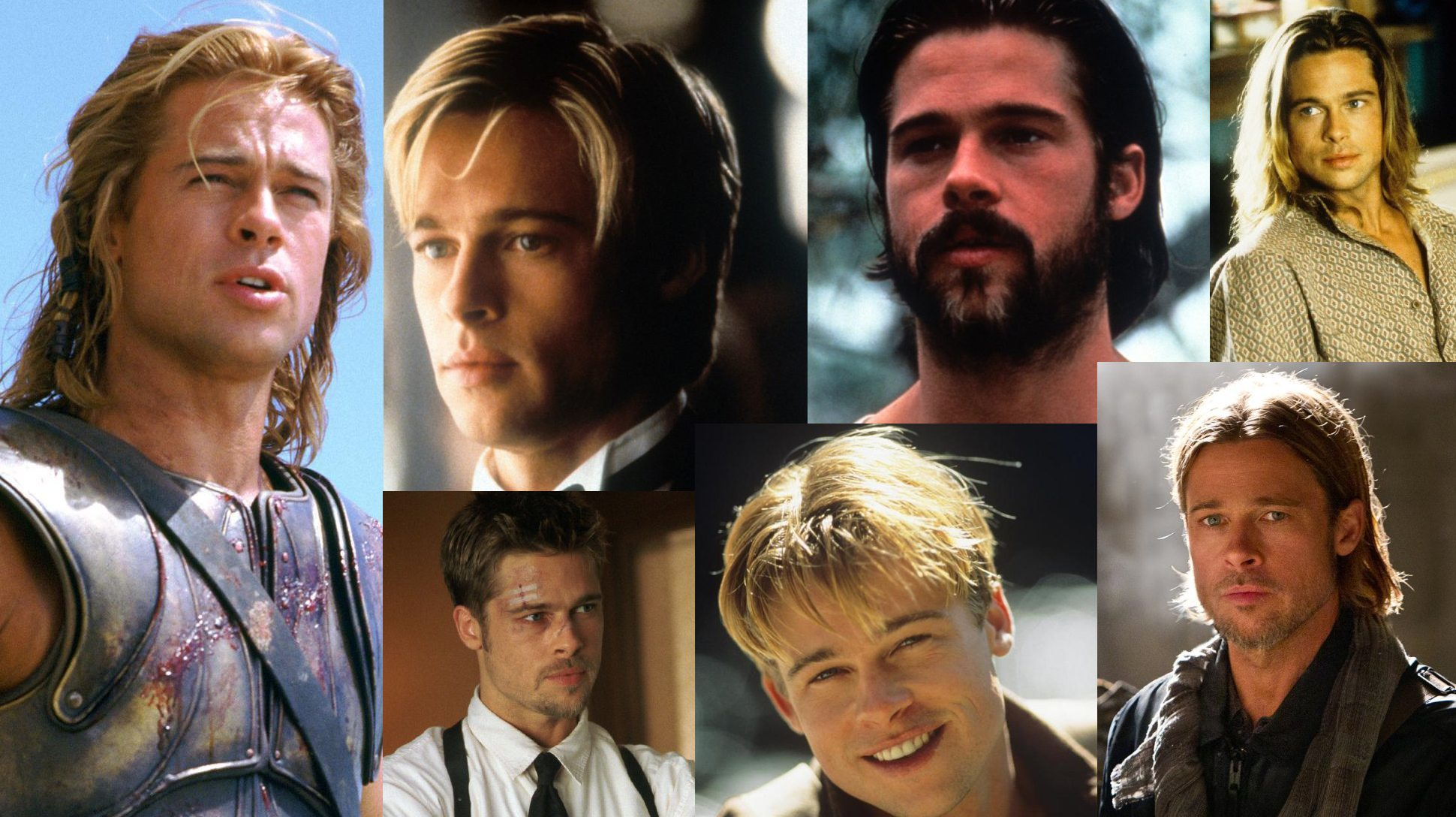 Brad Pitt's height collage