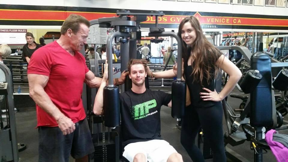 Arnold Schwarzenegger's height fam
