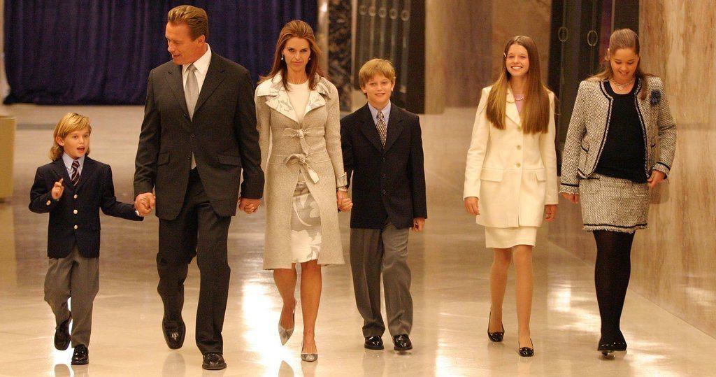 Arnold Schwarzenegger's affair family
