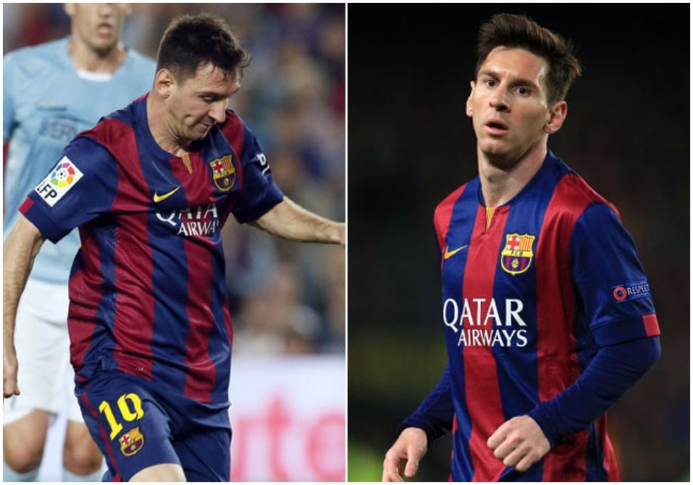 Messi's height before and after