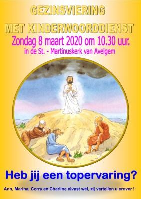 KWD 6 Jezus op de berg Tabor Affiche