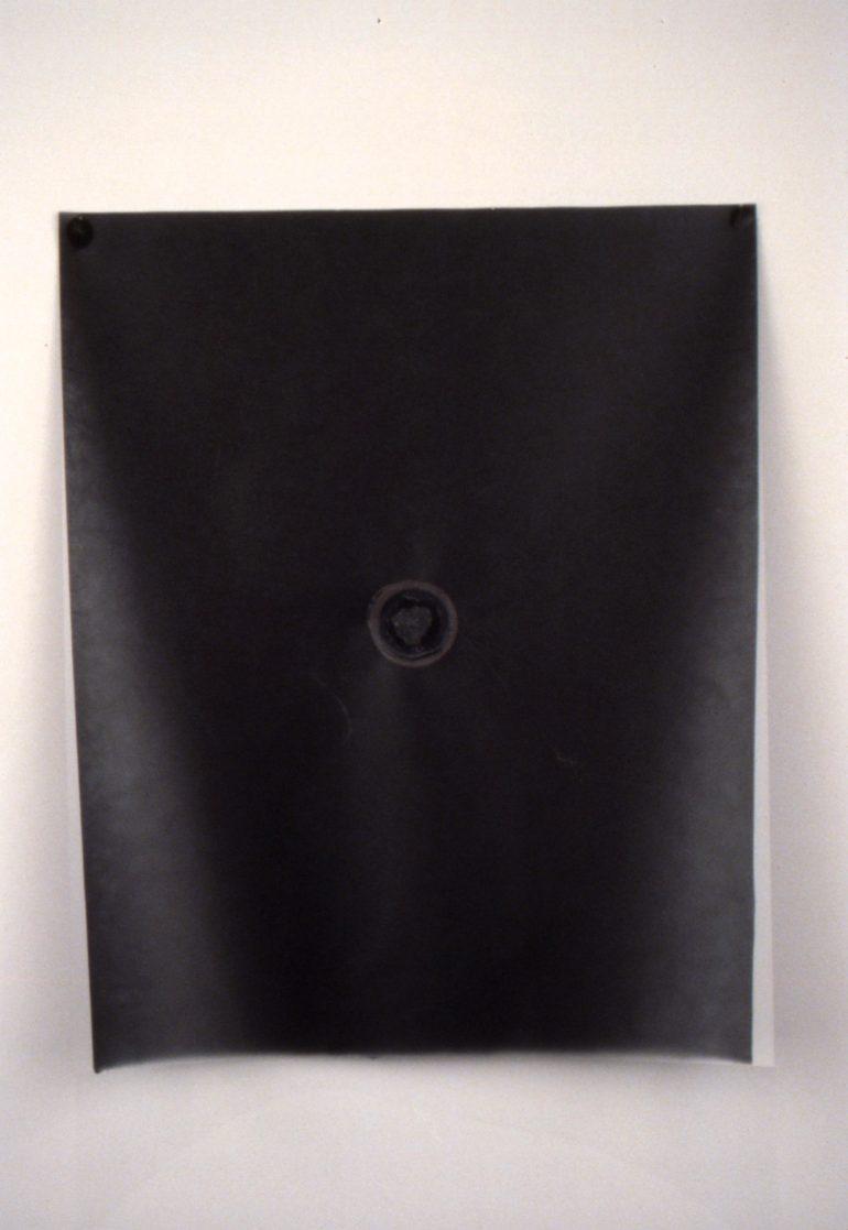HS white circle on black