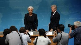 Η κ. Κριστίν Λαγκάρντ με τον εκπρόσωπο του ΔΝΤ, κ. Τζέρι Ράις. Φωτογραφία ΔΝΤ