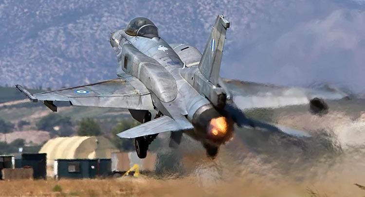 Ελληνικό μαχητικό F-16. Φωτογραφία αρχείου ΠΑ.