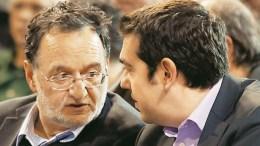 Ο Παναγιώτης Λαφαζάνης και ο Αλέξης Τσίπρας. Φωτογραφία ΑΠΕ-ΜΠΕ