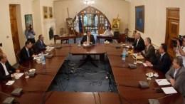 To Εθνικό Συμβούλιο ενημέρωση ο πρόεδρος Αναστασιάδης σχετικά με τις εξελείξεις στις συνομιλίες για το Κυπριακό. Φωτογραφία CNA/ΚΥΠΕ