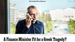 Φωτογραφία του κειμένου της εφημερίδας New York Times για τον κ. Βαρουφάκη