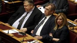 ΦΩΤΟΓΡΑΦΙΑ ΑΡΧΕΙΟΥ: Η πρόεδρος του ΠΑΣΟΚ Φώφη Γεννηματά (Δ), ο πρώην πρόεδρος του κόμματος Ευάγγελος Βενιζέλος (Α) και ο βουλευτής Δημήτρης Κρεμαστινός (Κ). ΑΠΕ-ΜΠΕ, ΑΛΕΞΑΝΔΡΟΣ ΒΛΑΧΟΣ