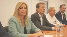 Συνάντηση της Προέδρου του ΠΑΣΟΚ Φώφης Γεννηματά με τους παραγωγικούς φορείς της Θεσσαλονίκης ενόψει της 80ης ΔΕΘ,  στην αίθουσα εκδηλώσεων της Τεχνόπολης Θεσσαλονίκης, Παρασκευή 28 Αυγούστου 2015
