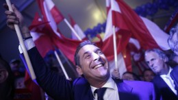 Heinz-Christian Strache, the leader of Freedom Party of Austria (FPOe). EPA/GEORG HOCHMUTH