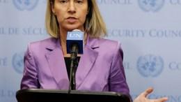 EU High Commissioner for Foreign Affairs Federica Mogherini. EPA/ANDREW GOMBERT