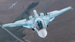 Ρωσικό αεροσκάφος κρούσης Su-34. Φωτογραφία ρωσικό υπουργείο Άμυνας, via Aviationist.