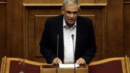 Ο αναπληρωτής υπουργός Εσωτερικών και Διοικητικής Ανασυγκρότησης αρμόδιος για θέματα Προστασίας του Πολίτη Νίκος Τόσκας στη Βουλή. ΑΠΕ-ΜΠΕ/ΑΛΕΞΑΝΔΡΟΣ ΒΛΑΧΟΣ