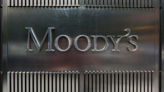 FILE PHOTO,  shows the Moody's logo outside the offices of Moody's Corporation in New York, New York, USA. EPA, ANDREW GOMBERT