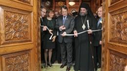 Ο Πρόεδρος της Δημοκρατίας Νίκος Αναστασιάδης τέλεσε τα εγκαίνια της Αίθουσας Κειμηλίων «Γλαύκος Κληρίδης». Φωτογραφία Σταύρος Ιωαννίδης