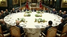 FILE PHOTO: Συνεδρίαση του Συμβουλίου Εθνικής Ασφάλειας της Τουρκίας με τη συμμετοχή του κ. Ερντογάν. Φωτογραφία ΤΟΥΡΚΙΚΗ ΠΡΟΕΔΡΙΑ