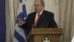 Ο υπουργός Εξωτερικών Νίκος Κοτζιάς. ΑΠΕ-ΜΠΕ, ΓΙΑΝΝΗΣ ΚΟΛΕΣΙΔΗΣ
