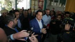 Ο υποψήφιος για πρόεδρος της ΝΔ Αδωνης Γεωργιάδης στο εκλογικό κέντρο στο Εκθεσιακό Κέντρο Περιστερίου. ΑΠΕ - ΜΠΕ, Αλέξανδρος Μπελτές