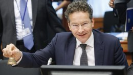 President of Eurogroup, Dutch finance minister Jeroen Dijsselbloem at the Eurogroup Finance ministers meeting at the European Council headquarters in Brussels, Belgium. EPA, OLIVIER HOSLET