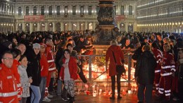 People attend a candlelight vigil on Piazza San Marco to remember Italian Valeria Solesin, who died during the Paris attacks, Venice, Italy, 18 November 2015. More than 130 people were killed and hundreds injured in the terror attacks which targeted the Bataclan concert hall, the Stade de France national sports stadium, and several restaurants and bars in the French capital on 13 November. Authorities believe that three coordinated teams of terrorists armed with rifles and explosive vests carried out the attacks, which the Islamic State (IS) extremist group has claimed responsibility for. EPA, ANDREA MEROLA