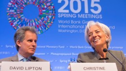 FILE PICTURE. International Monetary Fund Managing Director Christine Lagarde (R) and First Deputy Managing Director David Lipton (L). IMF Staff Photo, Stephen Jaffe