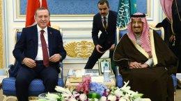 ΦΩΤΟΓΡΑΦΙΑ ΑΡΧΕΙΟΥ: Ο Τούρκος πρόεδρος Ταγίπ Ερντογάν με τον Σαουδάραβα μονάρχη. 2 Ιανουαρίου 2016. ΦΩΤΟΓΡΑΦΙΑ ΑΡΧΕΙΟΥ: Τουρκική Προεδρία