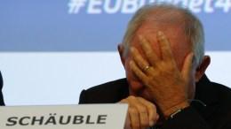 German Finance Minister Wolfgang Schauble. EPA, LAURENT DUBRULE