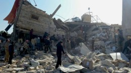 FILE PHOTO: A handout image  showing destruction and rubble in northern Syria. EPA, SAM TAYLOR, MSF, HANDOUT EDITORIAL USE ONLY