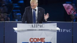FILE Photo: President elect Donald Trump delivers remarks at the American Israel Political Action Committee (AIPAC) Policy Conference in Washington, DC, USA. EPA, SHAWN THEW
