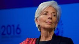 Η γενική διευθύντρια του ΔΝΤ Κριστίν Λαγκάρντ. Φωτογραφία ΔΗΜΗΤΡΗΣ ΜΑΝΗΣ