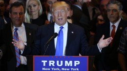 FILE PHOTO. US Republican presidential candidate Donald Trump (C). EPA, JUSTIN LANE
