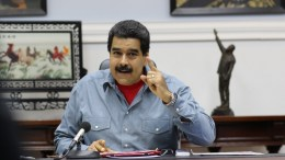 A handout picture made available by the Miraflores Press shows Venezuelan President Nicolas Maduro. EPA, MIRAFLORES PRESS HANDOUT EDITORIAL USE ONLY